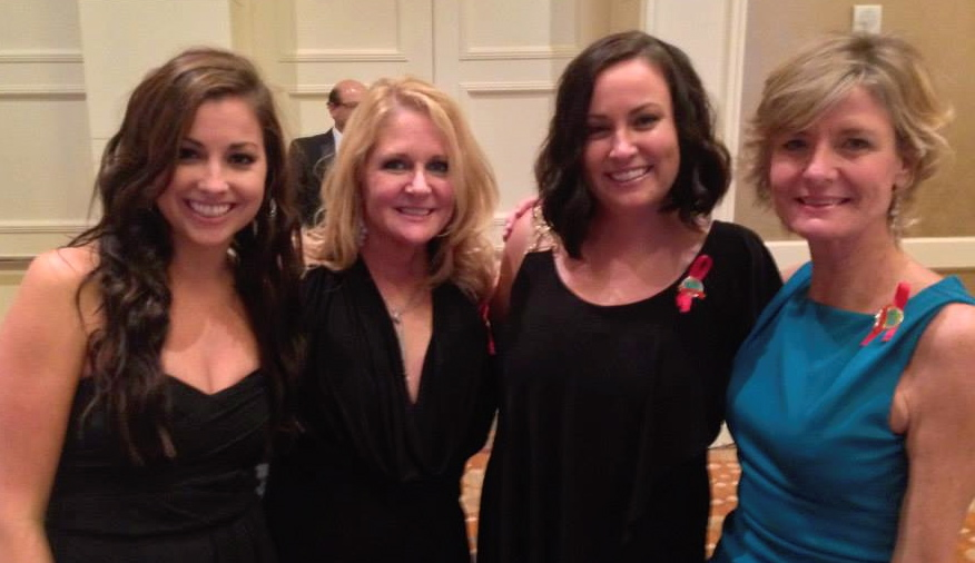 Libby & Sheri with good friends & collegues, Natalie Born of TVS & Nicole Higgins of Ceramic Technics