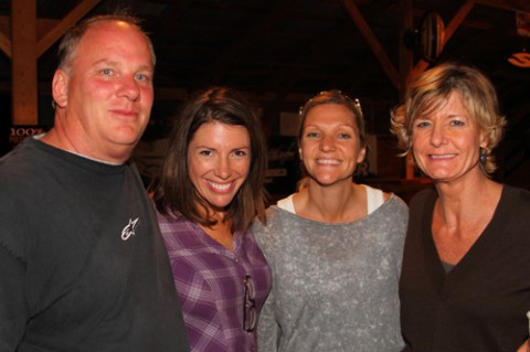 Jenny, Melissa and Libby with John Cooper (RockBridge Hotel Development)