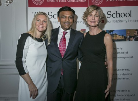 Melissa and Libby with D.J. Rama at the 12th Annual Cornell MMH Reception 2013