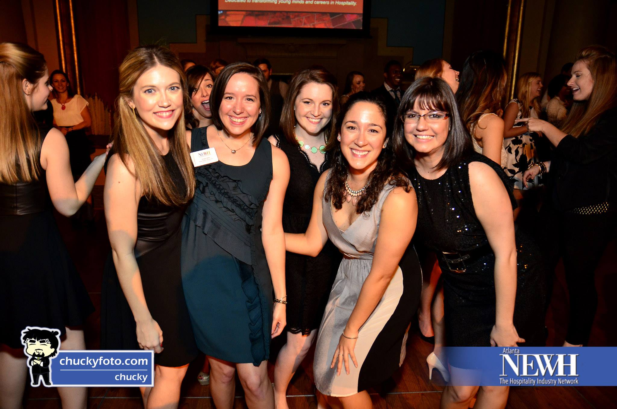 Gina Filipelli, Ginger Willis, Kendal Rogers, Jessica Ybarra, & Natalia Panagopoulos at the Scholarship Gala 2014