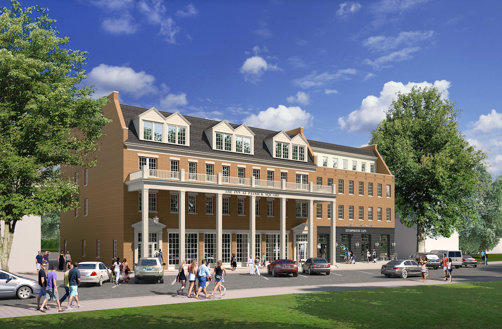 Luxury boutique hotel breaks ground in clemson sc sims for Luxury hotel breaks